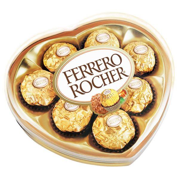 chocolates ferrero rocher forma-corazon-x8-und